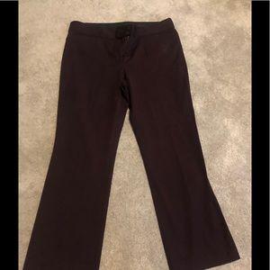 Dark plum colored LOFT TROUSER PANTS
